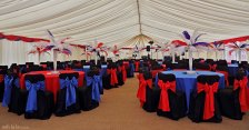 interior of marquee for an event.