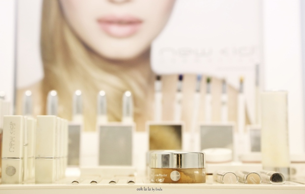 beauty products in salon, commercial photography