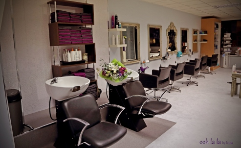 commercial and advertising shot of interior of a hairdressers.