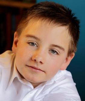 colour close up portrait of little boy