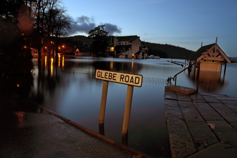 Glebe Road Windermere flooded