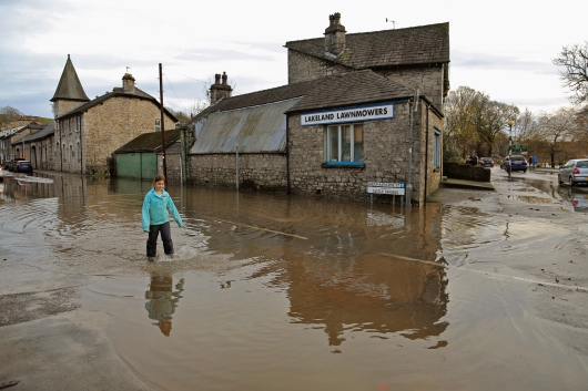 Kendal street in floodwater