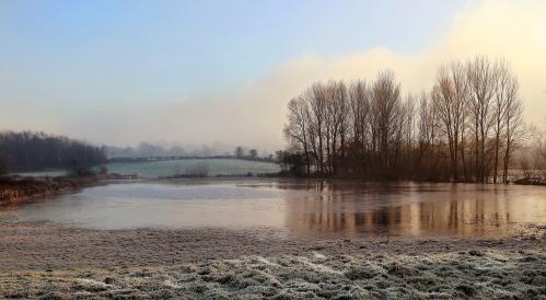 frozen-floodwater-Neddern-Caldicot-