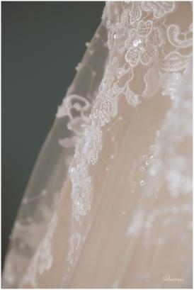 detail of wedding dress