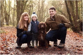 family in Chepstow Park Woods