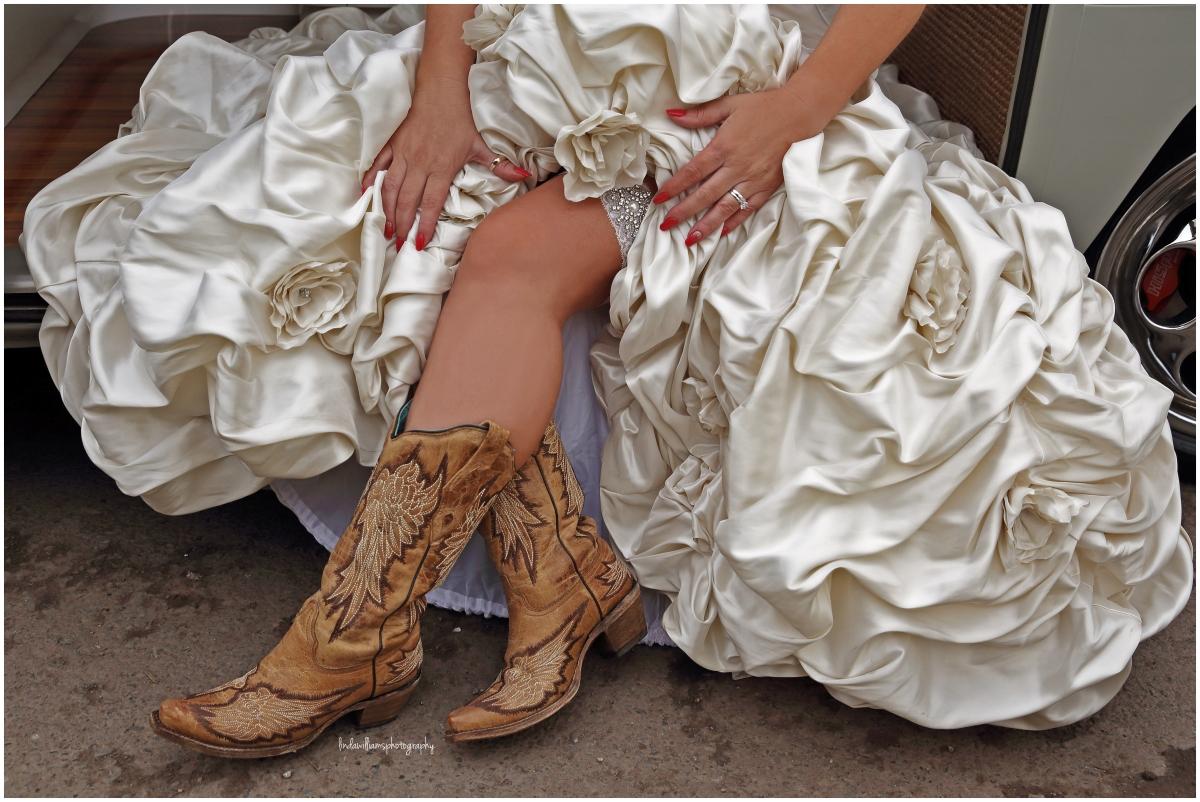 Bride - cowboy- boots.