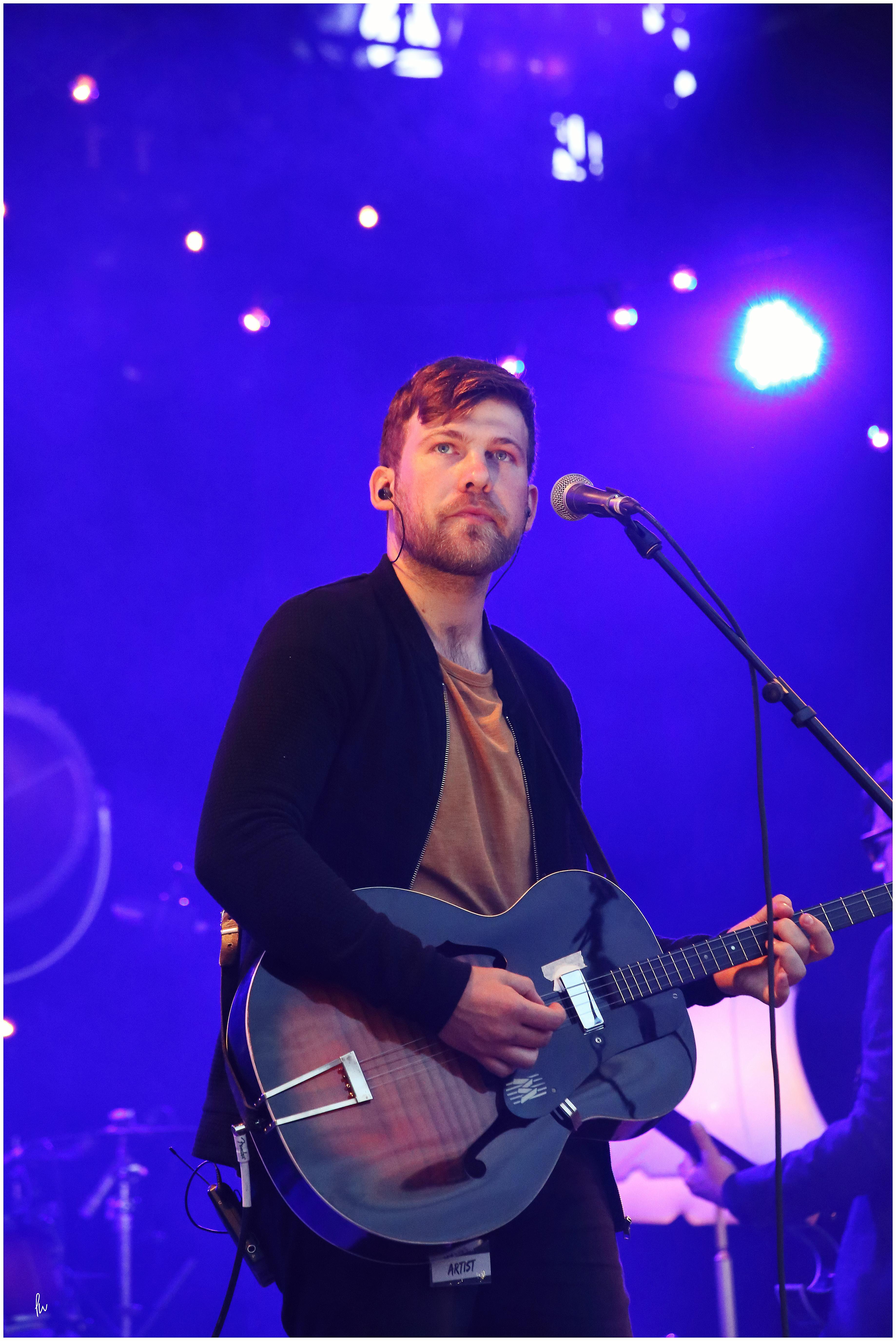 photograph of guitar player