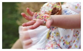 sweets in a childs hand
