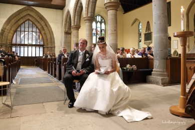 Bride and Groom in church
