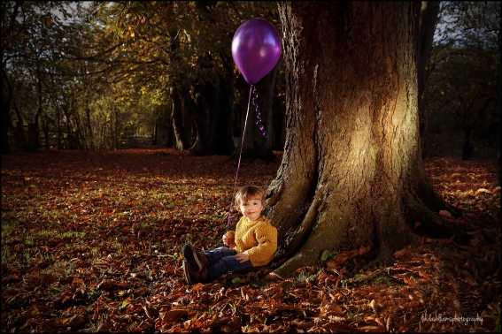 little boy at Caldicot Castle with balloon