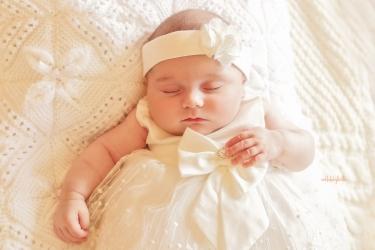 sleeping baby girl