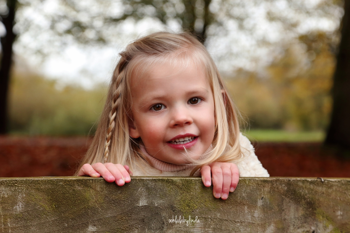 portrait of little girl at Caldicot Castle