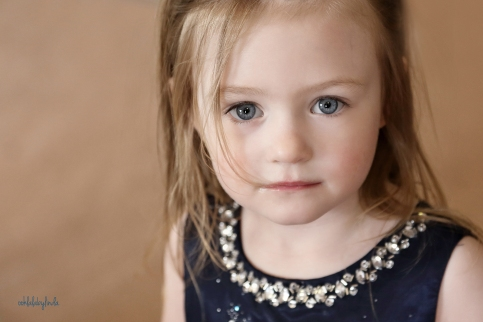 close of portrait of little girl