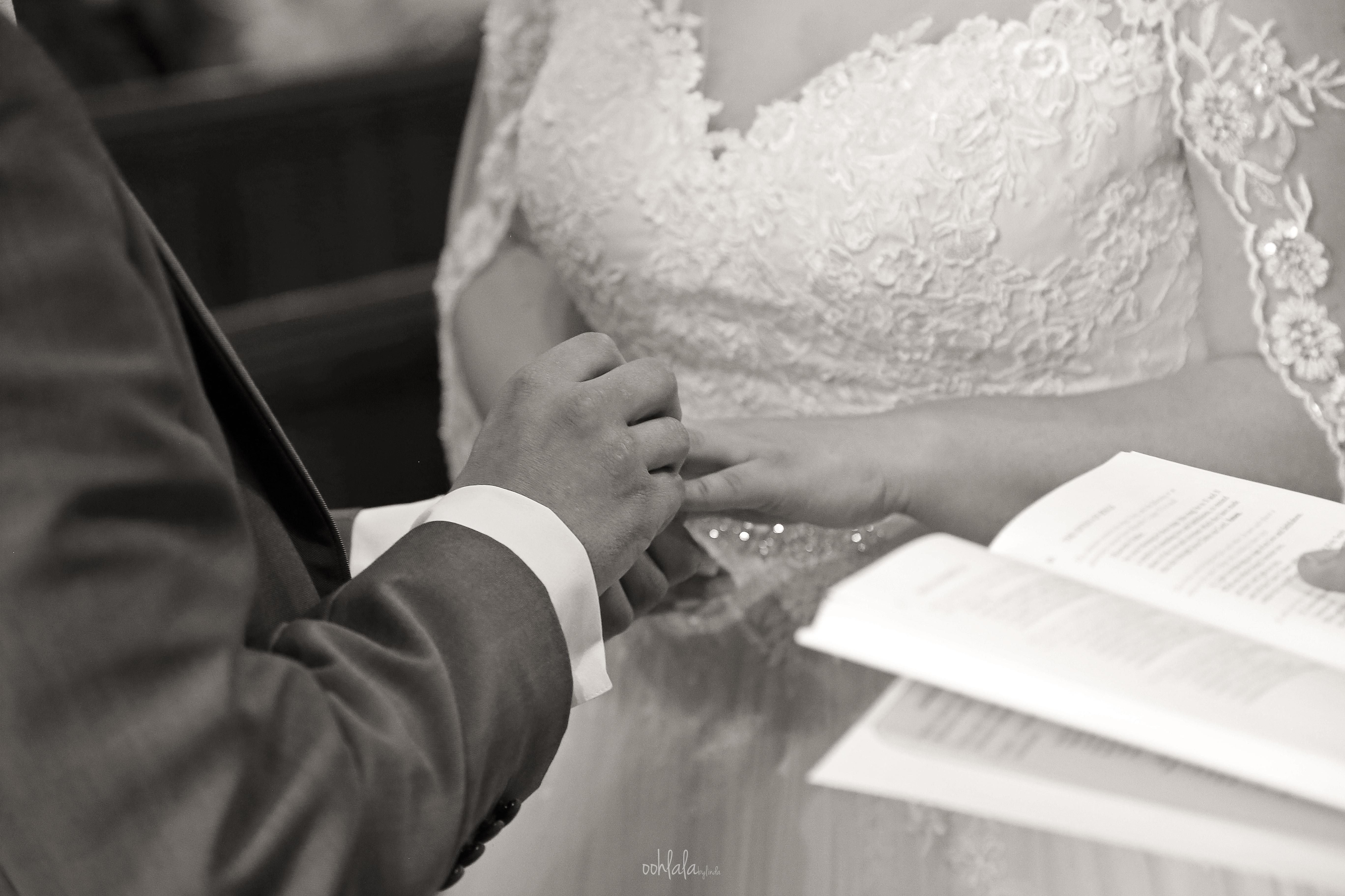 Wedding at St Marys church Caldicot