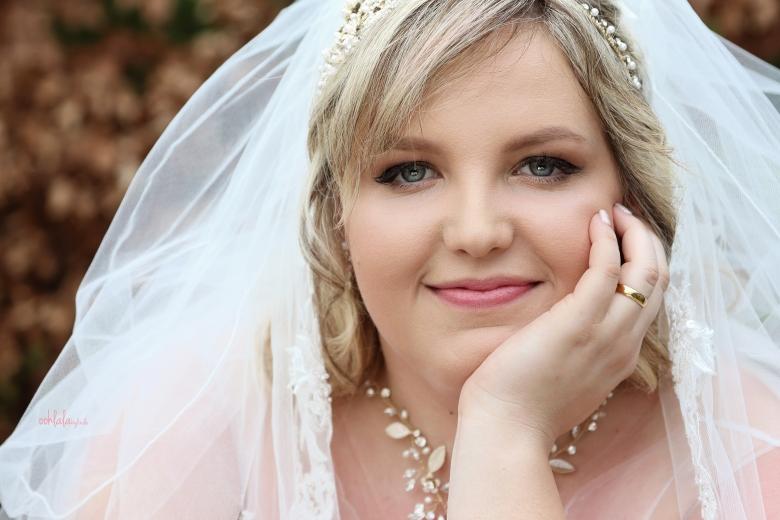 Portrait of a bride at Coldra Court