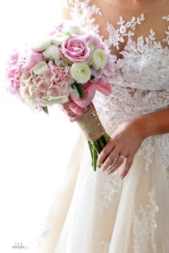 Brides bouquet of pink Peonies