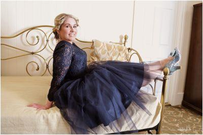 bridesmaid with sparkly shoes taken by Ooh La La Caldicot