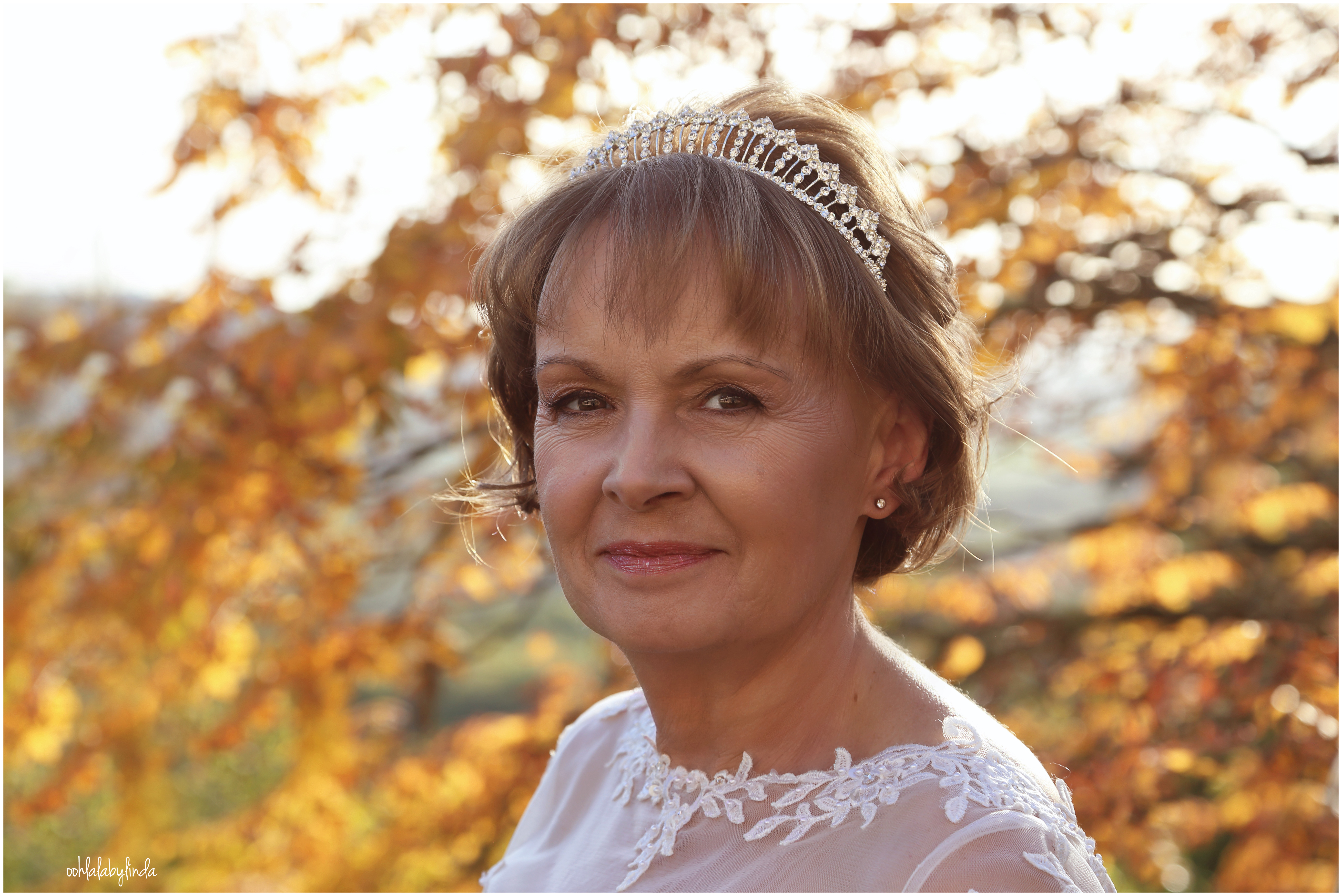 head and shoulders portrait of bride at Caer Llan