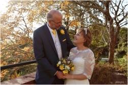 Wedding int he gardens of wedding venue Caer Llan taken by Caldicot photographer Linda at Ooh La La