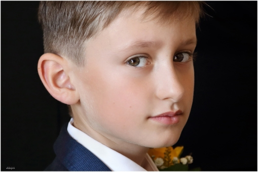 Close up portrait of little page boy at a Chepstow wedding