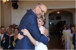 emotional shot of bride and groom just married at Caer Llan