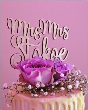 Details of pink wedding cake Undy