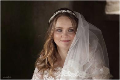 beautiful bride just married