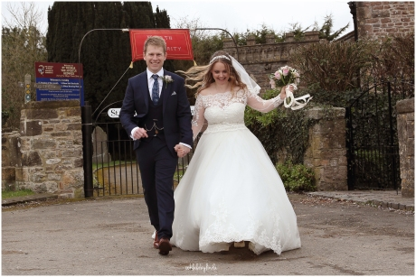 bride and groom just married St Thomas Church Redwick