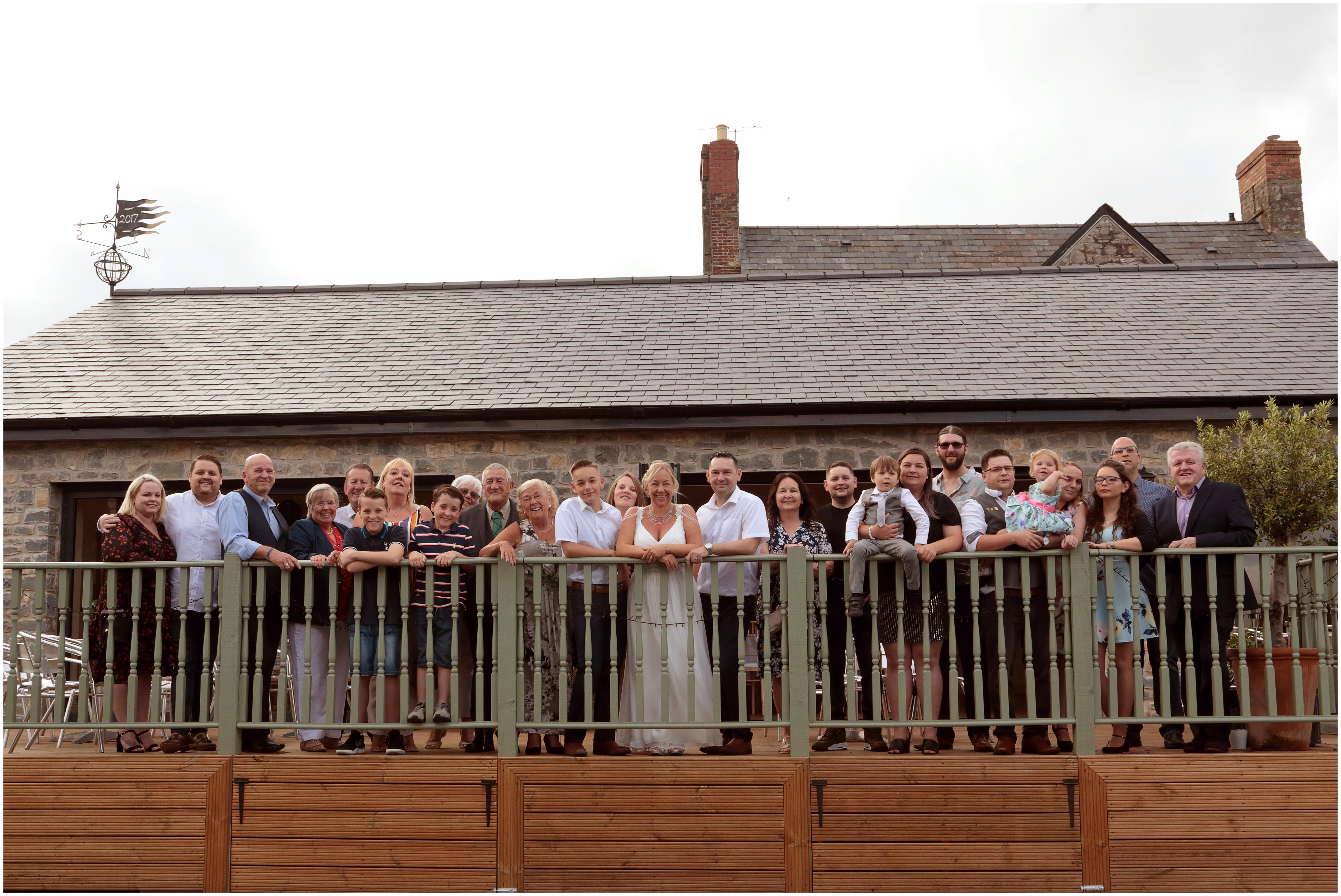 large wedding group