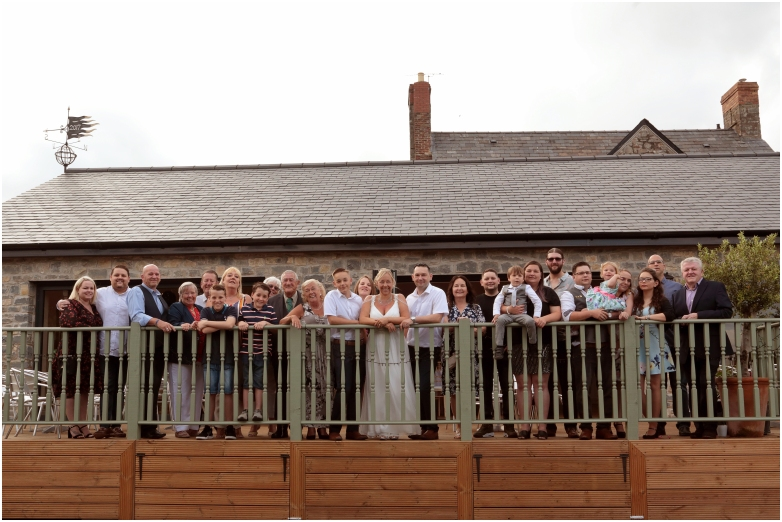 large wedding group