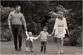 black and white family photograph