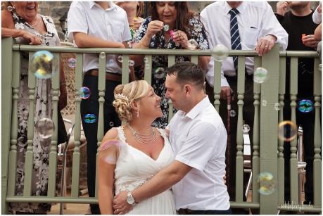 bride and groom at Mounton Brook Lodge