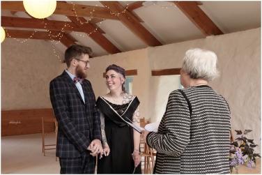 Wedding ceremony at Nantwen Pembrokeshire