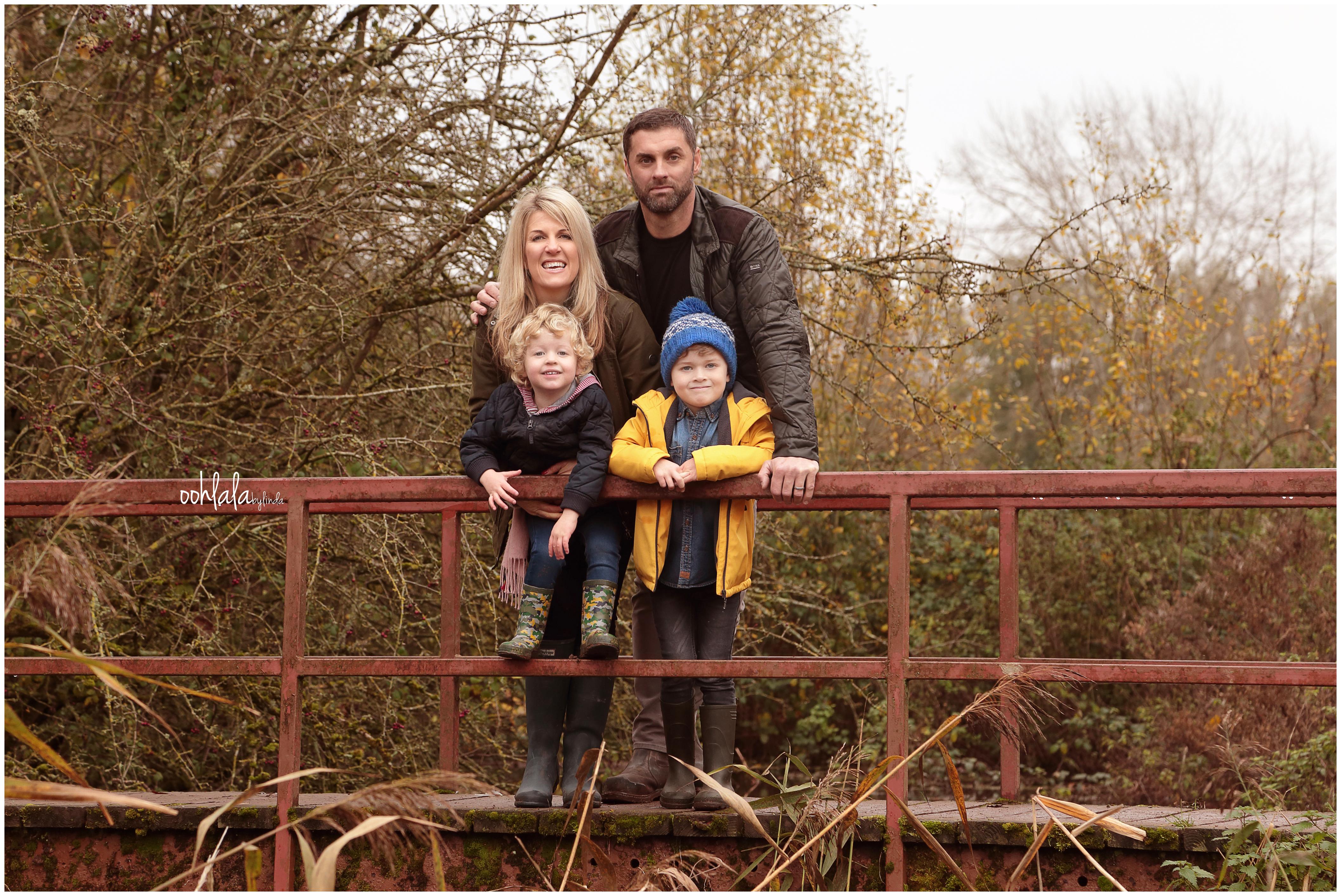 informal family photo shoot at Caldicot Castle