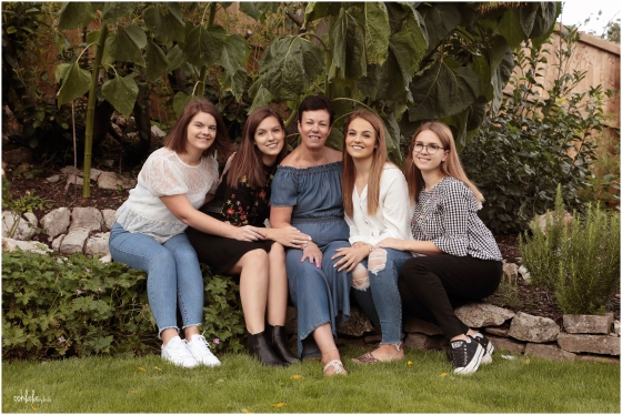photograph of mother with four daughters